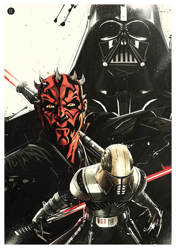 Cool Art: Darth Vader, Darth Maul & Galen Marek