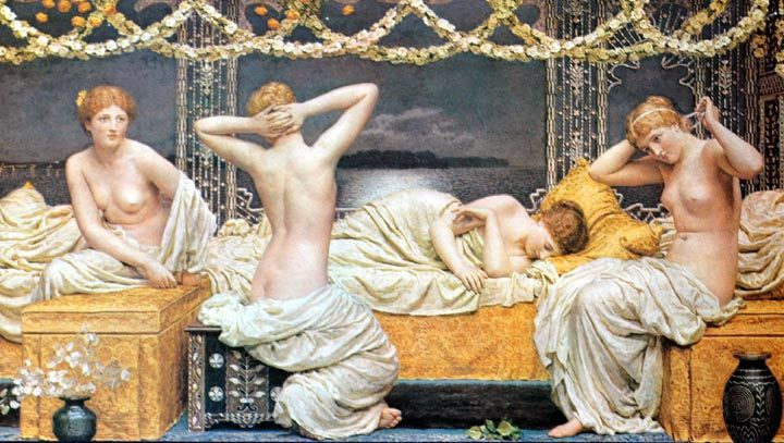 A Summer Night by Albert Moore