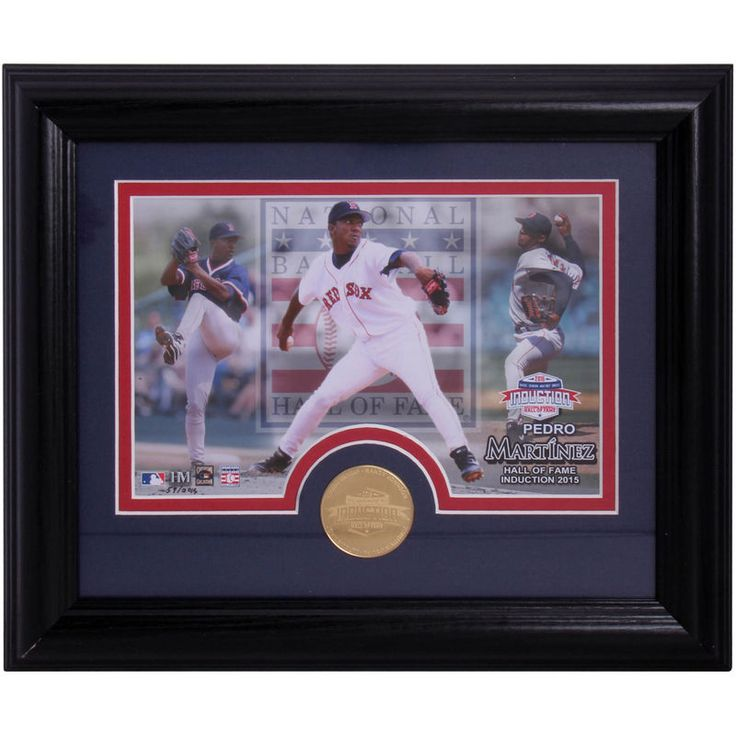 Pedro Martinez Boston Red Sox Highland Mint Hall of Fame Desktop Photo and Coin Set