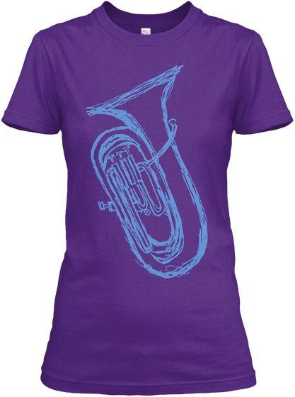 Euphonium (Womens T Shirt) Purple Women's T-Shirt Front