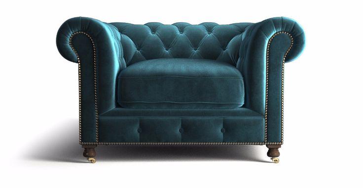 Notting Hill Velvet Chesterfield Armchair