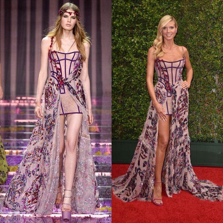 Heidi Klum in Atelier Versace Fall 2015