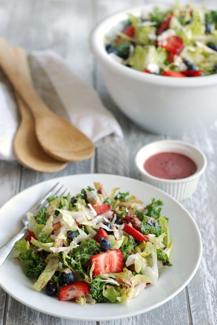 Fruit Salad with Blueberry Vinaigrette