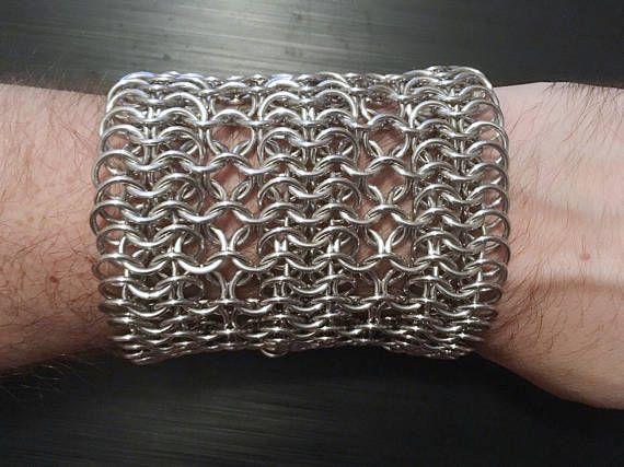 Handmade Aluminum Chainmail Belt European 4-in-1