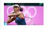 IMG211c: ESPN used the same picture of national tennis player, Venus Williams, from yesterday's report but with a different headline. Today's report talks about her advance in the Olympics. This picture remains under ESPN's headlines which shows Williams dominance in tennis.