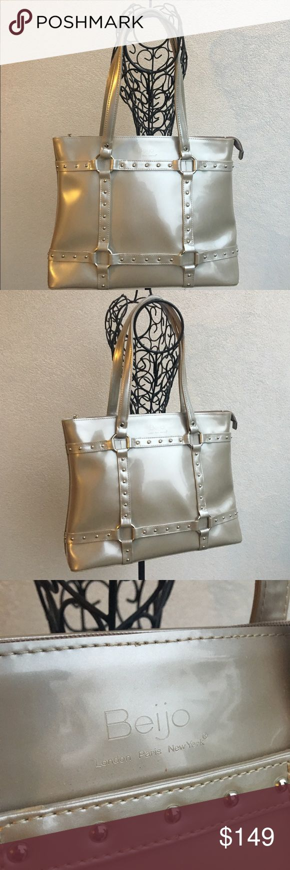 Beijo Metallic Leather Tote Shopper Bag You are viewing a listing for a lovely metallic patent leather tote bag by Beijo. beijo Bags Totes