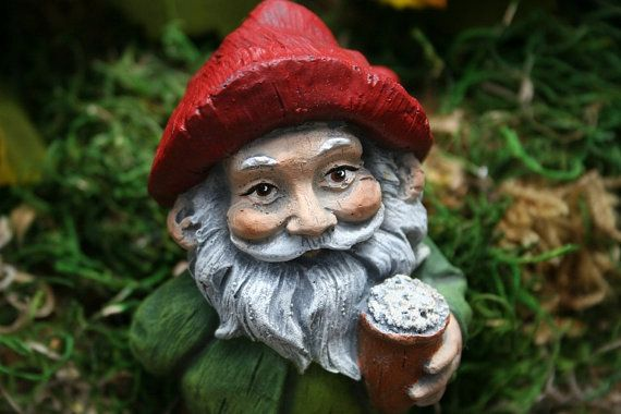 Beer Drinking Gnome - Garden Gnomes For Sale - Funny Naughty Gnomes with Beer Mug via Etsy