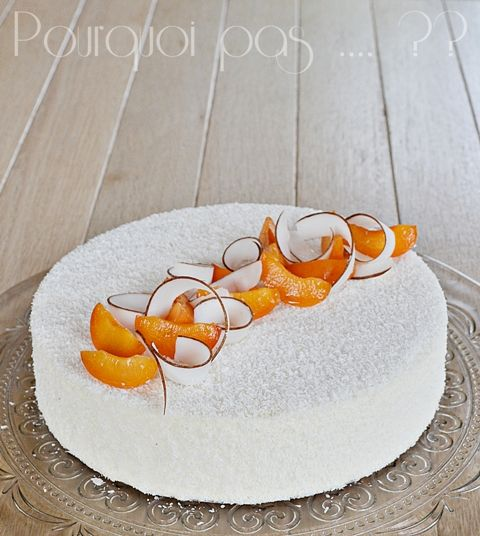 Pourquoi pas .... ??: Entremet abricot / coco   (inspiré du Coco'oning d...