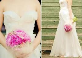 Afbeeldingsresultaat voor bruidsboeket pioenrozen