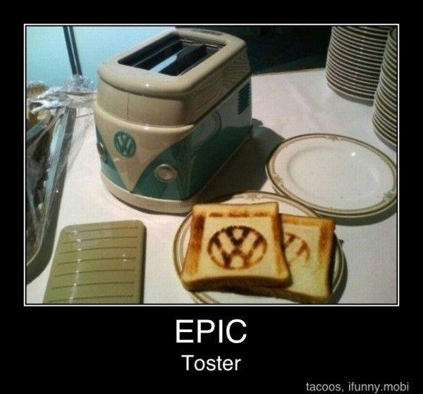 VW ToasterFunny Things, Stuff, Things Dustin, Random Things, Vw Toaster I, Bestest Laugh, Products, Creative Things