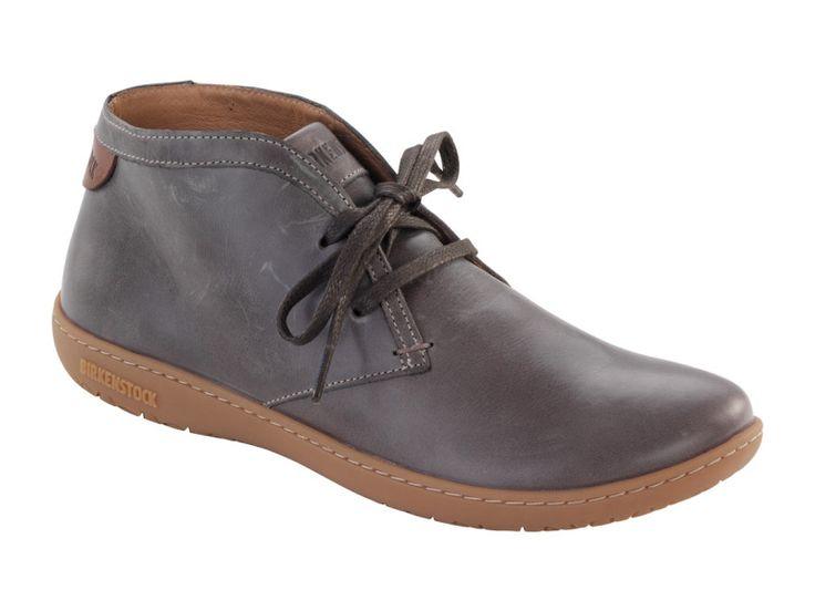 Scarba Women's Natural Leather in Grey (Birkenstock Shoe Removable Footbed ) - Birkenstock