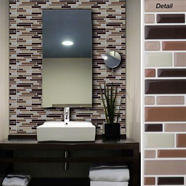 Magic Gel Piano Self Adhesive Wall Tiles Set
