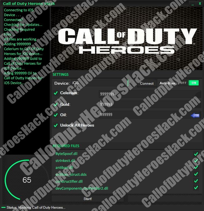 Get unlimited free celerium pack with the only working Call of Duty Heroes Hack!