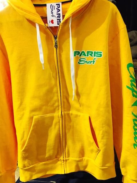 Paris Surf Yellow Zip Up Hoodies - Various Colors