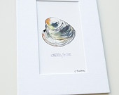 Cherrystone - Mix & Match Mini Print - Sea - Beach - Watercolor - Hamptons - Long Island - Wall Art - Shellfish