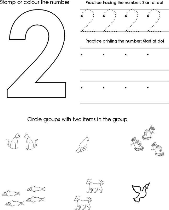 46+ Number 2 preschool worksheets Top