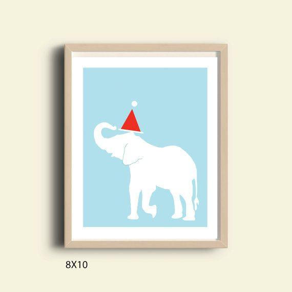 Olifant kerst afdrukken kunst aan de muur kerst afdrukken