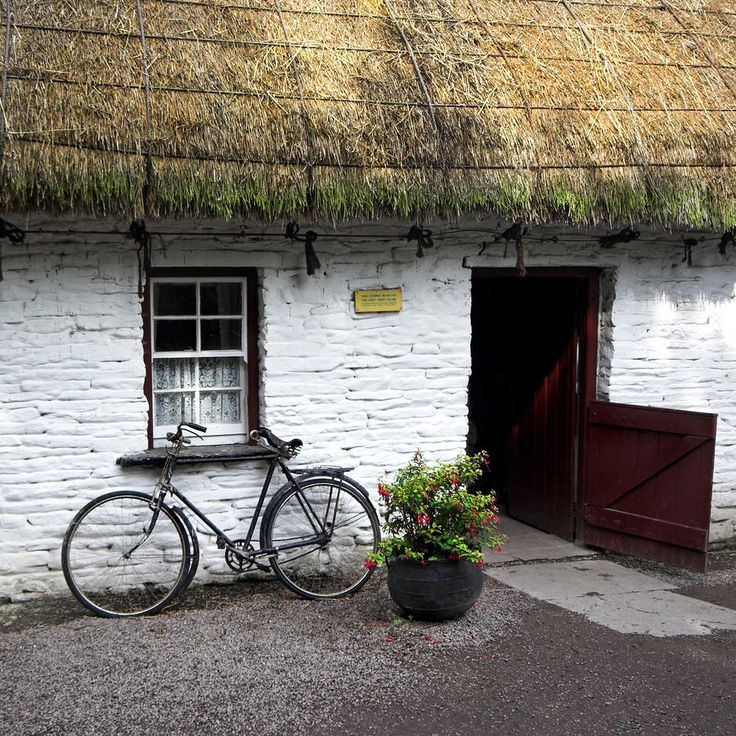 Traditional Thatch roof cottage Ireland Photograph by Pierre Leclerc - Traditional Thatch roof cottage Ireland Fine Art Prints and Posters for Sale
