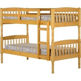 Decor kid's room with Albany 3ft Bunk Bed - Antique Pine that are available at One Living Furniture store in Ireland. This bunk bed's height below side rail h285 and available at € 259.00.