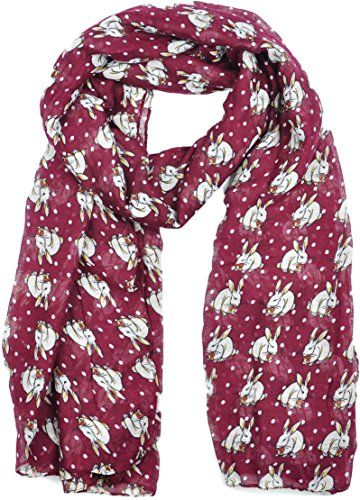 Ladies Womens Colorful Long Soft and Warm Bunny Rabbit Print Maroon Scarf Goldkidlondon http://www.amazon.co.uk/dp/B00RHTROII/ref=cm_sw_r_pi_dp_frOGwb1FRNQ99