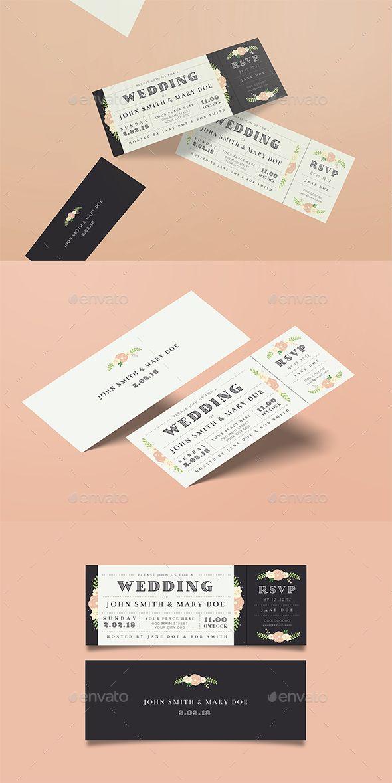wedding invitation design psd%0A Wedding Invitation Ticket