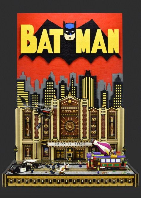 Brickbaron also known as Paul Heterington on Flicker, has build his version of 1950's batman comic book cover.  Paul is Art Deco lover, and that shows in the MOC.  At first i was amazed with all those ornaments on the walls. Triangle road sign use to build columns is also pretty clever. Floor mosaic near entrance is mesmerizing. There is also a lot of action in this diorama. Joker is attacking with gas that makes cops burst into uncontrollable laughter, Batman and Robin are coming up to the…