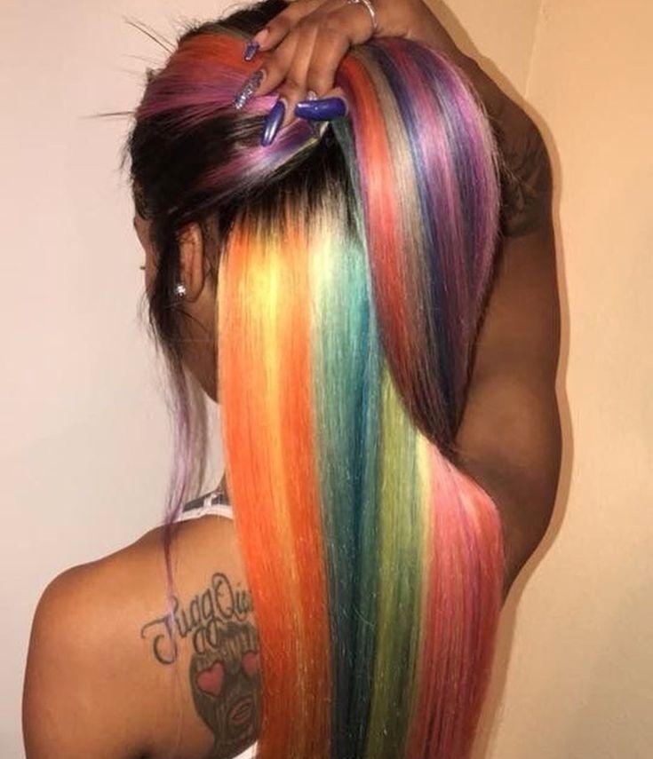 This is truly rainbowlicious hair!!
