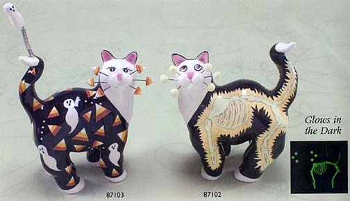 whimsiclay cats by willitts halloween cats