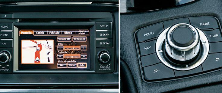 Detalle del sistema opcional de navegación y del mando de control