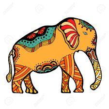Resultat d'imatges de dibujo elefante indio