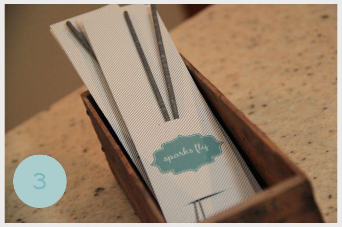 DIY Sparklers... cute for birthdays, parties or summer weddings!