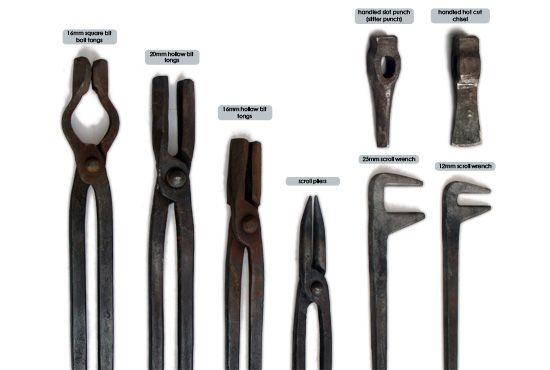 blacksmith hand tools   BLACKSMITHING - Collection of blacksmithing tools