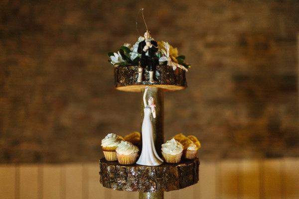 Fisherman groom cake topper