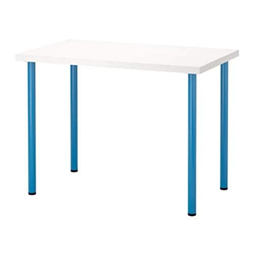 Ikea Linnmon Adils Table White Blue 691 335 97 Size 39 3 8x23 5 8 Table Ikea Table Ikea