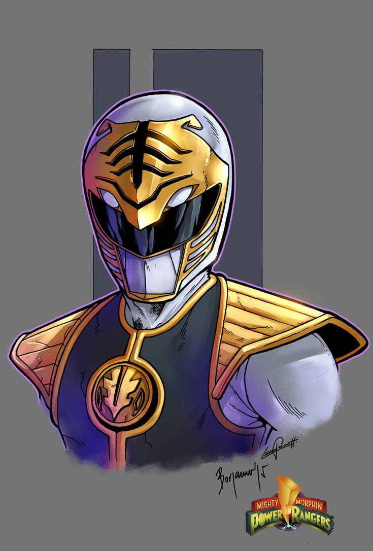 Mighty Morphin Power Rangers white ranger color by le0arts on DeviantArt