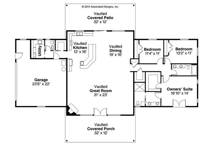 Ranch House Plans Anacortes 30 936 Associated Designs House Plans With Side Entry Garage 4 Car Side Entry Garage House Plans Rear Side Entry Garage House Plans House Desirable Side Entry Garage House Plans House Plans