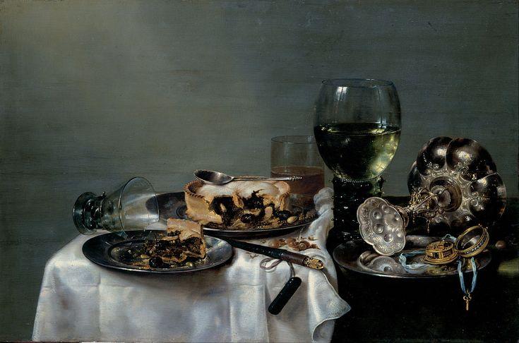 Willem Claesz. Heda, Breakfast Table with Blackberry Pie (1631), Gemäldegalerie Alte Meister
