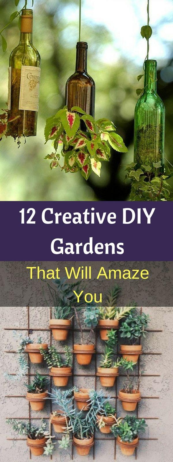 12 Creative DIY Gardens That Will Amaze