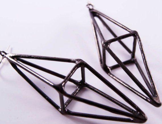Octahedron earrings.