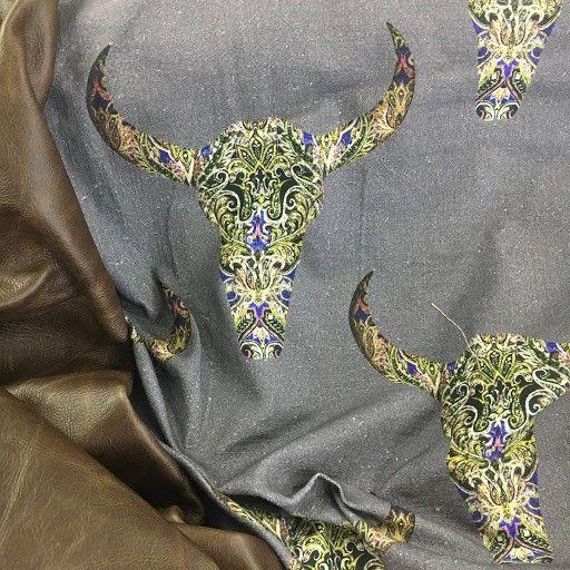 Buckaroo design on 100% cotton in colour - charcoal.  SO unique. www.whatnot.co.za