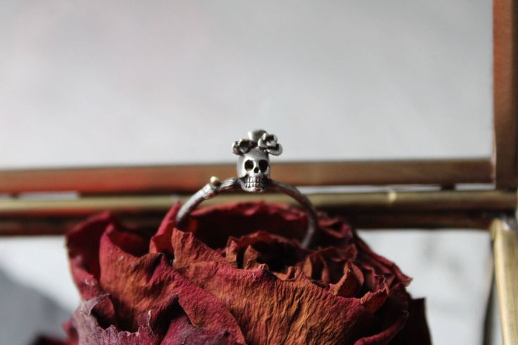 Excited to share the latest addition to my #etsy shop: Silver sugar skull ring -Sterling silver skull ring-Dia de los muertos jewelry-Tiny skull ring-Sugar skull jewelry - Valentines gift for her