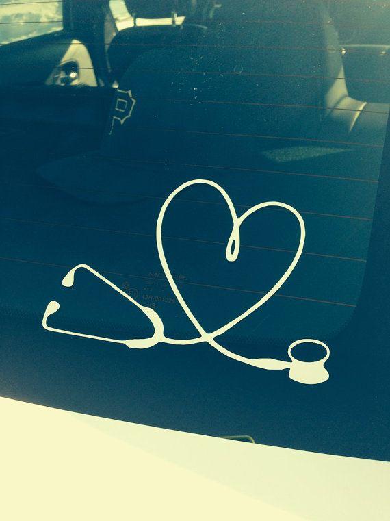 Nurse vinyl decal Stethoscope Nurses gifts by KreativityByKay