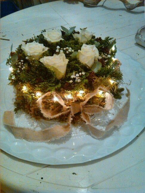 DIY Bloemstuk Kerst Taart