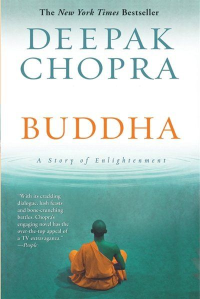 """Deepok Chopra's """"Buddha: Story of Enlightenment"""": while realizing I had time to dive in to a well written book, I chose this one. Chopra's astonishing way with words and melodic sentence structure keeps me glued with my nose in the soft spine."""