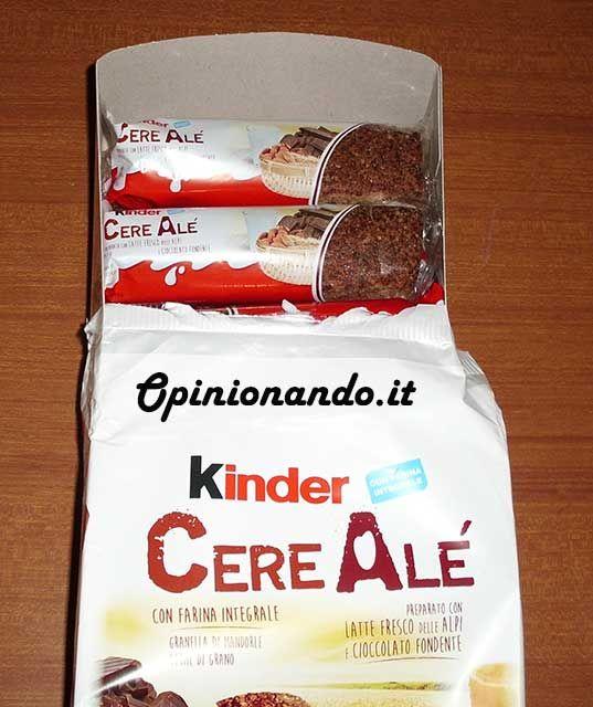 Kinder CereAlé , la confezione aperta - #recensione #opinionando