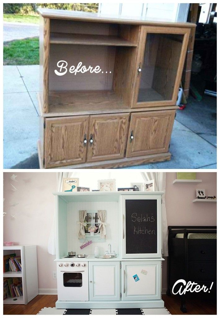 DIY 1950s Play Kitchen!  So dang cute!