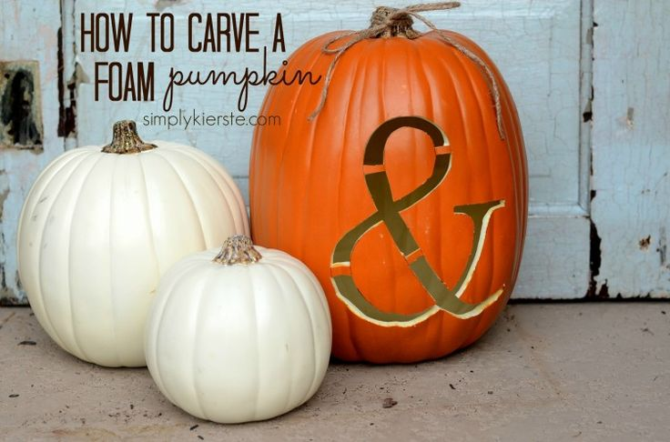 How to Carve a Foam Pumpkin: An easy step-by-step tutorial! Create fun pumpkin designs for both indoor and outdoor decor, that will last the whole season!