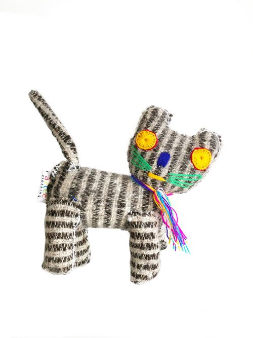 Stripy Cat - Woollen animal from Chiapas, Mexico