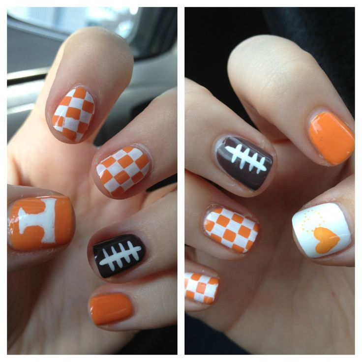 Go Vols!  Love the nails, but a waste of time for this Art teacher Vol fan