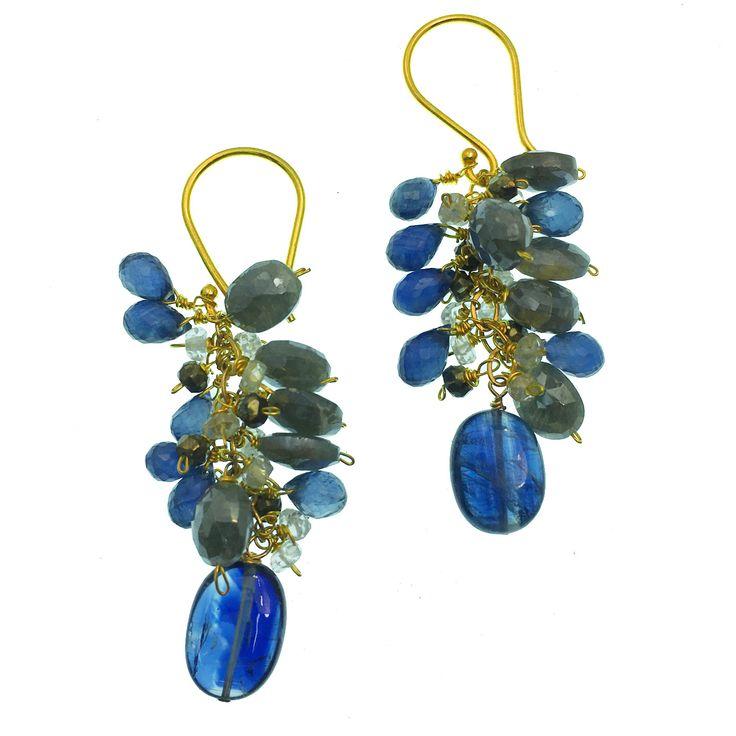 Kyanite, Blue Sapphire, Silverite and Vermeil Earrings!